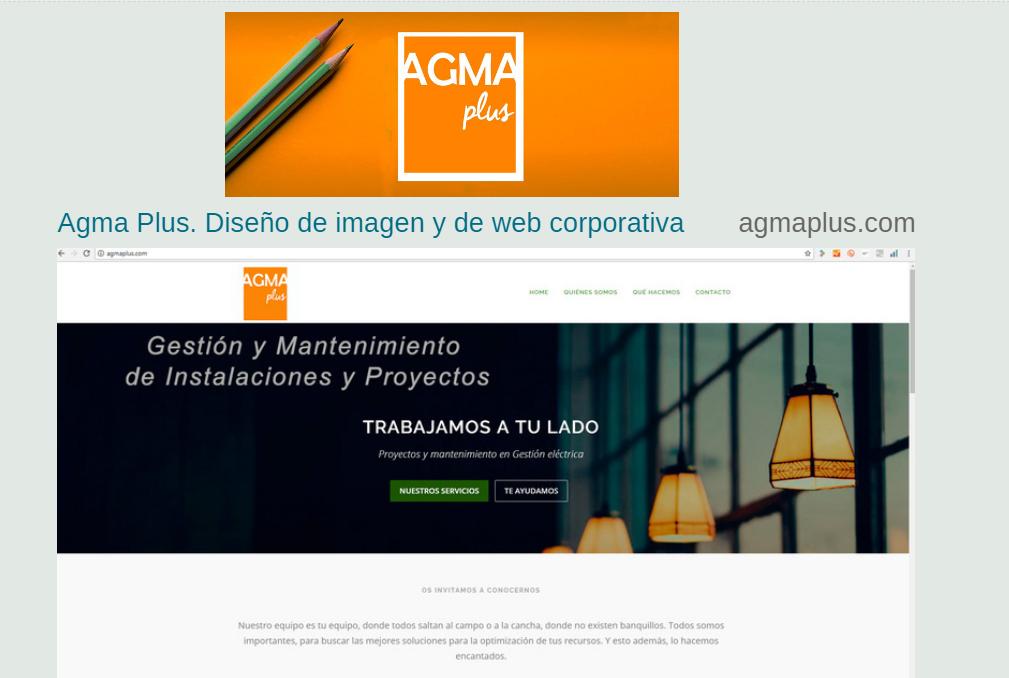 Agma, diseño corporativo y web 2016