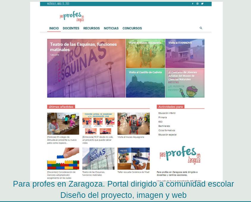 ParaProfesenZaragoza, diseño y desarrollo