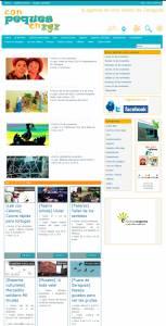 Primera versión de la agenda online Conpequesenzgz.com 2010