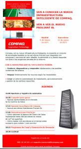 Diseño html de emailing para Compaq. 2001